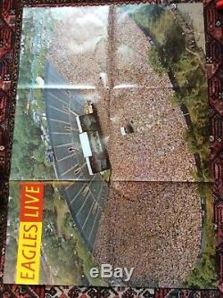 The Eagles Live 12 Vinyl Double Album Signed By Glen, Don, Timothy & Joe