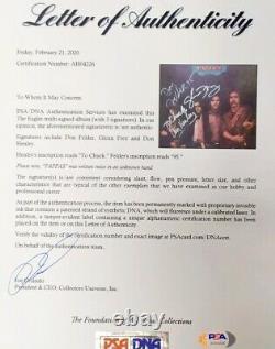 The Eagles Signed Desperado Album x 3 Henley Frey Felder Autographed PSA/DNA