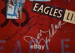The Eagles signed album joe walsh don felder randy meisner group eagles live lp
