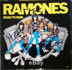 The Ramones'Road to Ruin' autographed/signed album/lp by all 4 R&R Auction COA