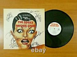 The Rocky Horror Picture Show Signed Album with Record Meat Loaf Conway etc