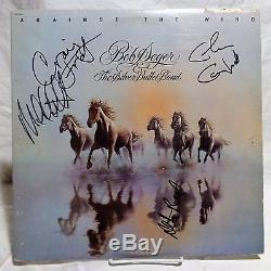 The Silver Bullet Band group Signed Autographed Album Bob Seger A
