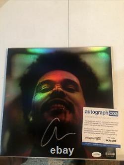 The Weeknd Signed Autograph After Hours Vinyl Album Acoa Coa Pop Rap Rare