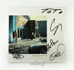 Toto Fahrenheit Autographed Signed Album LP Record Certified Authentic JSA COA