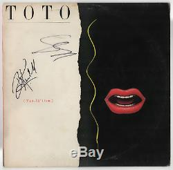 Toto band signed autographed record album! RARE! Guaranteed Authentic
