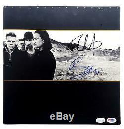 U2 Autographed X2 Signed Record Album LP ACOA