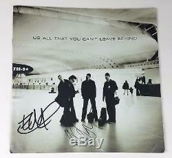 U2 Edge Adam Autographed Signed LP Record Album Sleeve ACOA