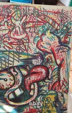 Uber Rare 1984 Red Hot Chili Peppers LP Album signed by original 4 members ACOA