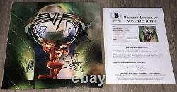 VAN HALEN SIGNED 5150 RECORD ALBUM EDDIE VAN HALEN +3 withPROOF & BAS BECKETT LOA