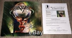 VAN HALEN SIGNED 5150 RECORD ALBUM EDDIE VAN HALEN +3 withPROOF & BECKETT BAS LOA