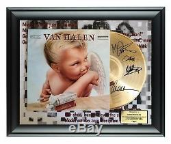Van Halen Autographed 1984 Album LP Gold Record Award Eddie