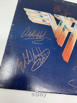 Van Halen II Autographed Album Signed by All 4 Members David Michael Eddie Alex
