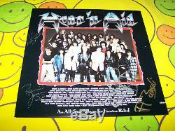 Very Rare Hear `n Aid Autographed Record Album Ronnie James Dio 1985