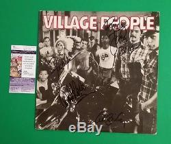 Very Rare Village People Signed By 4 Original Members Debut Album With Jsa Coa