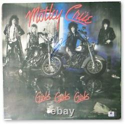 Vince Neil Autographed Record Album Motley Crue Girls Girls Girls GV907066