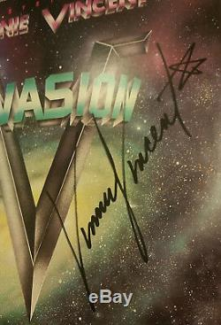 Vinnie Vincent (Kiss) Signed Autographed Invasion 1988 Record Album withCOA
