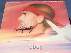 Willie Nelson Signed Autographed City Of New Orleans Record Album LP