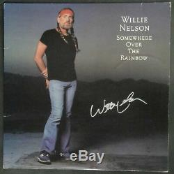 Willie Nelson Signed Autographed Record Album Somewhere Over Rainbow JSA P63220