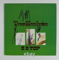 ZZ Top Fully Signed Autograph Album LP Record JSA Epperson Billy, Dusty, Frank